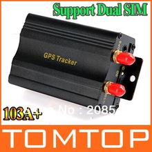 Professional Dual SIM card Port GPRS GSM Vehicle Car GPS Tracker Real-time Tracking Anti-theft Alarm System Google Map 103A(China (Mainland))