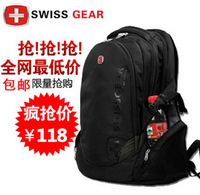 Free shipping Swiss gear laptop backpack bag notebook bag male women's 17 computer backpack sa0810b