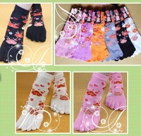 free shipping 3 pairs 5 five fingers socks female 100% thin cotton spring and autumn short toe socks