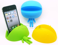 2013 Newest fashion big head mouth baby shape silicone cell phone holder Universal desktop stand support office supplies product