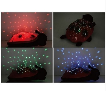 Ladybug Constellation LED Sleep Lamp Projector Night Light Stars Baby Toy 16033