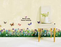 2013 New Beatiful Flower Wall Sticker Home Decoration Removable Vinyl Wall Art Free shipping