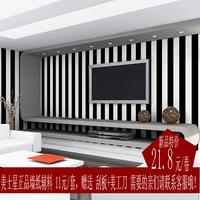 New arrival black stripe ofhead tv background wallpaper brief modern vertical stripe wallpaper
