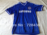 Free shipping Chelsea Home Blue Soccer Jersey 13/14,Embroidery Logo Thailand Quality Chelsea Soccer Shirts Uniforms On sale
