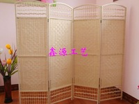 Eco-friendly rattan crafts paper rope screen fashion entranceway partition