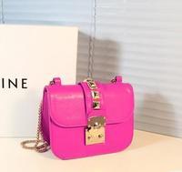 free shipping Bags 2013 small bag fashion all-match chain rivet bag one shoulder cross-body women's handbag
