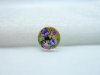 10pcs 12mm Handmade Photo Glass Cabochons (Flower) GB19-14
