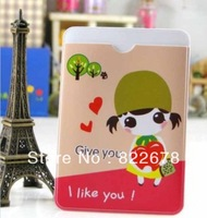 50pcs/lot New Cute PVC Card protector for Children & Ladies 2pcs Fashion Fruit Girl Member Card Holder / Free Shipping