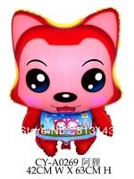 New ! Free shipping 50pcs/lot film A raccoon balloon , 42CM * 63CM, Helium balloon , Cartoon toys for children