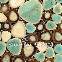 Porcelain tile flooring ceramic mosaic shower pebble tiles kitchen backsplash ideas swimming pool tile FREE shipping wholesale