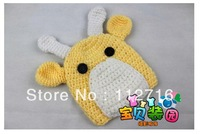 Hand Knitted Crochet Baby Crocheted Photography Prop Set Newborn Baby Deer