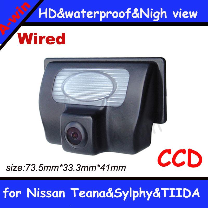 "Free shipping CCD 1/3"" Car Rear view Camera Parking Back Up Reversing Camera for Nissan Teana Sylphy TIIDA(China (Mainland))"