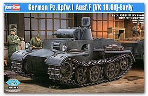 Hobby Boss model 83805 1/35 German Pzkpfw.I Ausf.F (VK1801) Early plastic model kit