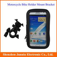 Waterproof Motorcyle Bike Holder Bicycle Handlebar Mount Holder Stand Waterproof Case For GPS SATNAV Mobile Phone Free Shipping