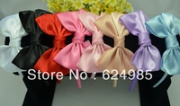 Anna $10 Boutique satin covered satin bow headwear children&adult mix colors bow headbands Free Shipping hair accessory 7pc/lot