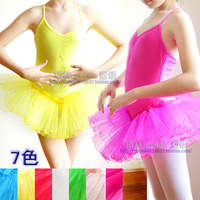 Female child ballet 0 child tulle dress spaghetti strap dance dress fitness clothing performance wear leotard costume
