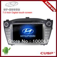 7 inch 2-din ANDROID CAR GPS supports WIFI, 3G, DVD,RADIO, Bluetooth,IPOD,SD, USB FOR  HYUNDAI IX35 2009-