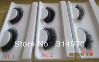 Hot!  Cheap stock price! free shipping real siberian mink fur strip lash mixed styles, 10 pairs/lot