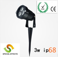 Free shipping led lawn lamp 3*1w led ground light ip68 warm/cold white led outdoor lamp for garden using landscape light led