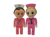 Free shipping pink nurse usb flash drive with big head