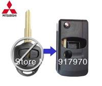 Free Shipping  Mitsubishi Lancer Outlander Colt Mirage 3 Button Flip Remote Key Shell, Case