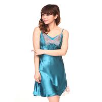 Silk pajamas sling sleepwear female summer  sexy lace nightdress sling nightclothes  Lingerie