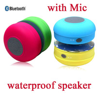20pcs Waterproof speaker bluetooth sound box with Mic suction cup stick to flat surface in the car/shower/pool with Retail box