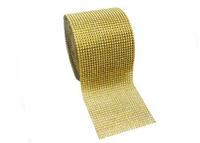 2014 Beautiful Wedding Decoration   Gold   Diamond Ribbon wrap