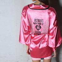 Vs 2012 shallow pink rhinestone wings cosmetic sleepwear