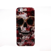 New Arrival Red Skull Pattern Painted Plastic Case Cover for iphone 5 5S,Free Shipping