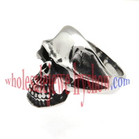Death Devil Skull Stainless Steel Jewelry Care  Wholesale Size: 6/7/8/9/10/11/12