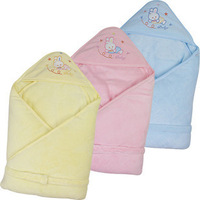 newborn infant holds blanket autumn and winter super soft coral fleece parisarc 100% cotton plus size