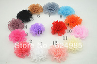 Anna $10 Boutique mini lace flower head fabric silk flower without clip flat back hair accessories 12pc/lot