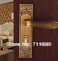 European interior door handle door lock room door lock bedroom wood handle Center distance: 58mm