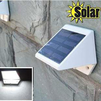Outdoor Solar Powered 4-LED Lights Pathway Up-Stair Wall Mounted Garden Fence Yard Lamp