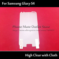 High Clear Screen Protector for Samsung Galaxy S4 i9500 10 pcs with Retail Package Free Shipping