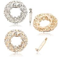 Wholesale 5pcs/lot Crystal Hoop Brooches Brand Rhinestone Circle Brooch Pins Fashion Jewelry For Women Man Wedding 2013 TBH0046