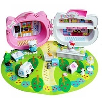 Free Shipping! 2013 new arrival hello kitty doctor toys for girls cute unique playsets