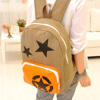 2013 backpack canvas backpack preppy style casual j353