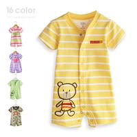 baby carters boy Summer children's clothing baby bodysuit 100% baby short-sleeve cotton boxer romper newborn unisex