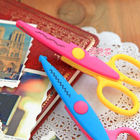 free shipping Ann at home multicolour laciness scissors diy card decorative pattern safety scissors