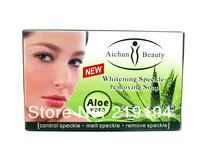 2 pcs/lot  Aichun aloe whitening face and body soap face care anti freckle and lighten skin free shipping