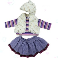 "fashion doll Princess dress suit High quality toy cloth set / outfit for 24"" USA Girl Many styles"