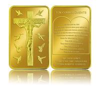 Newnest 1pieces / lot esus Christ Ten Commandments Gold Plated 24k Coin / Souvenir Coin