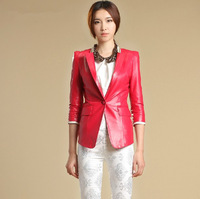 2013 Fashion women's geniune leather jacket leather coat genuine leather jacket