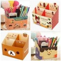 free shipping Small desktop storage box diy supplies miscellaneously cosmetics stationery finishing box