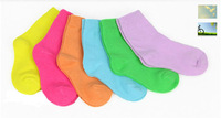2013 Cotton socks 3-7 Years Baby Children child kid's Boy's girl's Lovely cute candy color sock hosen anklet autumn summer