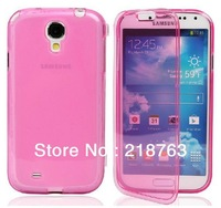 Cheap New Transparent Thin Flip TPU Cover Case for Samsung Galaxy s4 mini i9190.100pcs/lot DHL Free Shipping