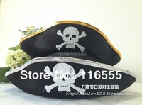 Free Shipping Caribbean captain hat halloween party supplies bordered pirate hat cap 15pcs/lot