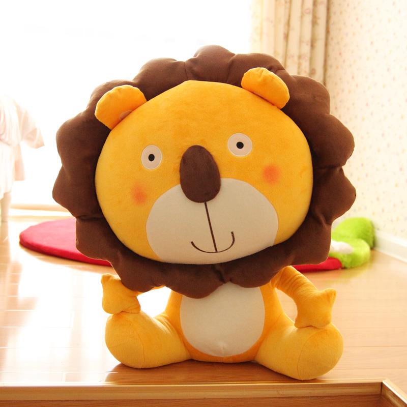candice guo! cute cartoon plush toy yellow animal lion stuffed toy doll birthday gift 40cm 1pc(China (Mainland))